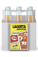 Пиво Lagerta Lemon Edition, Radler, в упаковке 20шт × 0.5л.