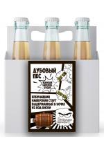 Пиво Дубовый Пёс, Russian Imperial Stout, в упаковке 20шт × 0.5л.