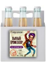"""Сидр яблочный """"Пьяный профессор"""" сухой в ящике 16 бут. по 0.5 л."""