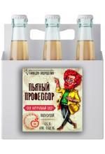 """Сидр яблочный """"Пьяный профессор"""" полусухой в ящике 16 бут. по 0.5 л."""