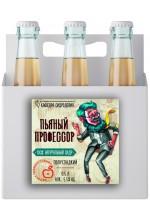 """Сидр яблочный """"Пьяный профессор"""" полусладкий в ящике 12 бут. по 0.7 л."""