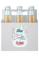 """Сидр яблочный St. Anton игристый сухой """"Экстра Брют"""" в коробке 6 бут. по 0.75 л."""