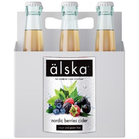 Сидр фруктовый ALSKA Nordic berries fruit, в ящике 12шт × 0.5л.