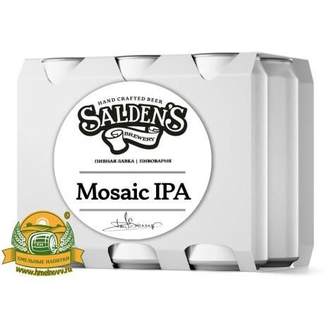 Пиво Mosaic IPA, светлое, нефильтрованное в упаковке 20шт × 0.5л.