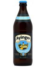 Пиво Ayinger Lager Hell светлое, фильтрованное в бутылке 0,5 л.
