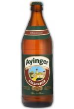 Пиво Ayinger Kellerbier светлое, нефильтрованное в бутылке 0,5 л.