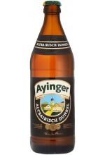 Пиво Ayinger Altbairisch Dunkel темное, фильтрованное в бутылке 0,5 л.