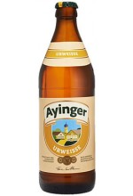 Пиво Ayinger Urweisse полутемное, нефильтрованное в бутылке 0,5 л.