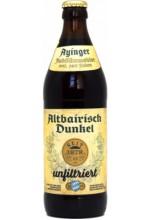 Пиво Ayinger Altbairisch Dunkel unfiltriert темное, нефильтрованное в бутылке 0,5 л.