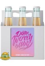 Пиво Don't Worry Baby, светлое, нефильтрованное в упаковке 20шт × 0.5л.