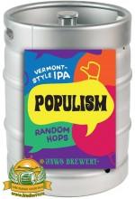 Пиво Populism Random Hops, светлое, нефильтрованное в кегах 20 л.