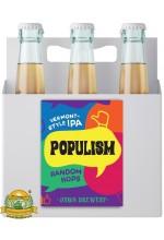 Пиво Populism Random Hops, светлое, нефильтрованное в упаковке 20шт × 0.5л.