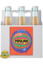 Пиво Populism Mosaic Edition, светлое, нефильтрованное в упаковке 20шт × 0.5л.