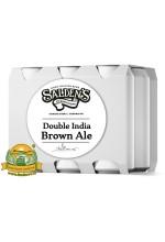 Пиво Double India Brown Ale, темное, нефильтрованное в упаковке 20шт × 0.5л.