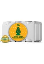 Пиво Merry Xmas Ya Filthy Animal, светлое, нефильтрованное в упаковке 20шт × 0.33л.