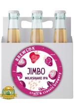 Пиво Jimbo, светлое, нефильтрованное в упаковке 12шт × 0.5л.