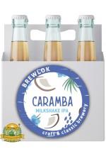 Пиво Caramba, светлое, нефильтрованное в упаковке 12шт × 0.5л.
