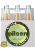 Пиво Pilsen, светлое, нефильтрованное в упаковке 12шт × 0.5л.