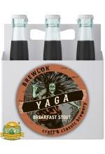 Пиво Baba Yaga, темное, нефильтрованное в упаковке 12шт × 0.5л.