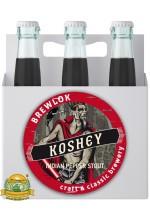Пиво Koshey, темное, нефильтрованное в упаковке 12шт × 0.5л.