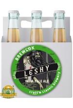 Пиво Leshy, светлое, нефильтрованное в упаковке 12шт × 0.5л.