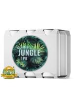 Пиво Jungle, светлое, нефильтрованное в упаковке 20шт × 0.5л.