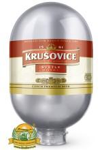 Пиво Krusovice Svetle светлое, фильтрованное в кегах Brewlock 8 л.