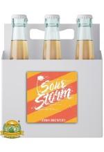 Пиво Sour Storm: Апельсин/Маракуйя/Мелисса, светлое, нефильтрованное в упаковке 20шт × 0.5л.