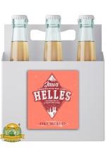 Пиво Helles, светлое, нефильтрованное в упаковке 20шт × 0.5л.